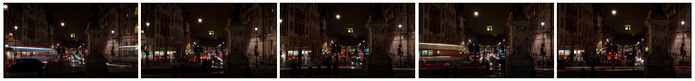 Big Ben at night Whitehall zoom filmstrip