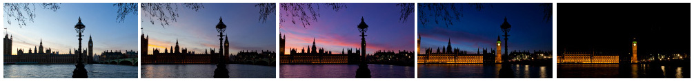 Houses of Parliament sunset track filmstrip