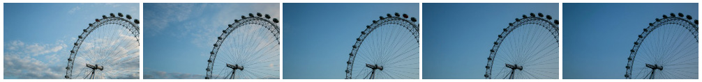 London Eye evening filmstrip