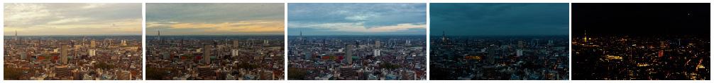 London at sunset TL filmstrip 3