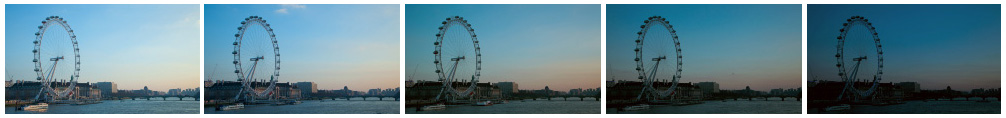 London eye dusk filmstrip