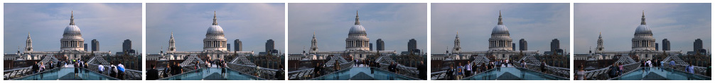 St Pauls and Millennium 1 filmstrip