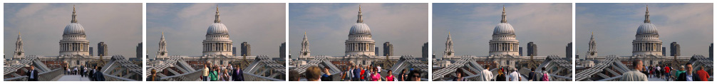 St Pauls and Millennium 2 filmstrip