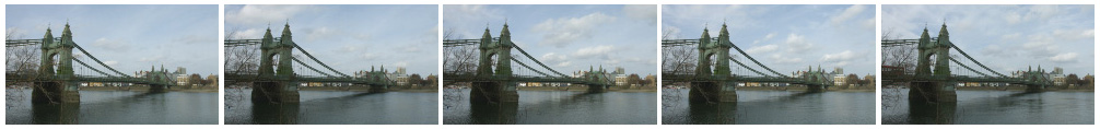 Hammersmith Bridge time lapse wide shot filmstrip