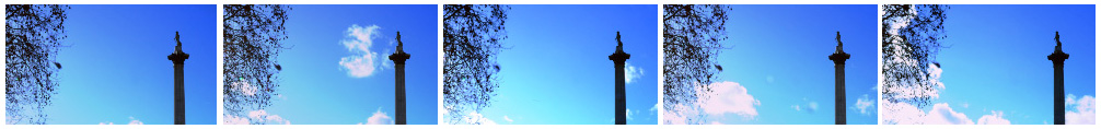 Nelsons column and tree silhouette filmstrip