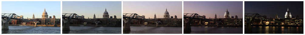 St Paul's Cathedral sunset time lapse wide shot filmstrip