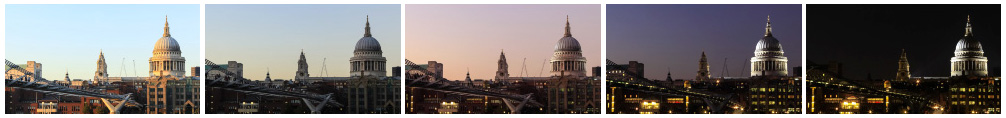 St Paul's Cathedral sunset time lapse close up filmstrip