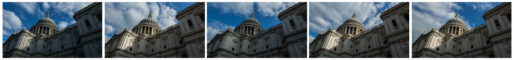 St Paul's Cathedral dome time lapse static filmstrip