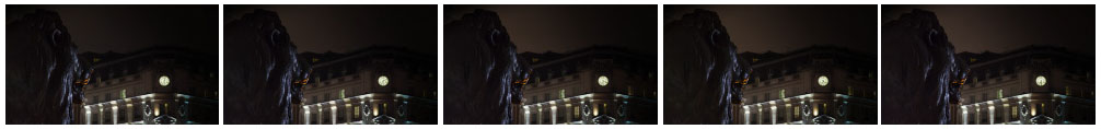Trafalgar Square Lion and clock time lapse filmstrip