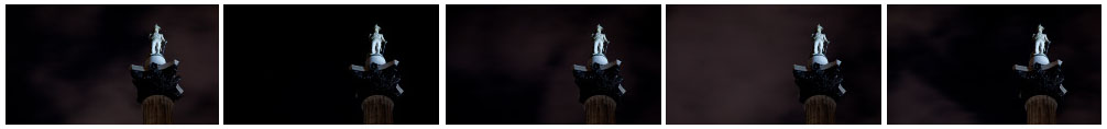 Nelsons Column night close up time lapse filmstrip