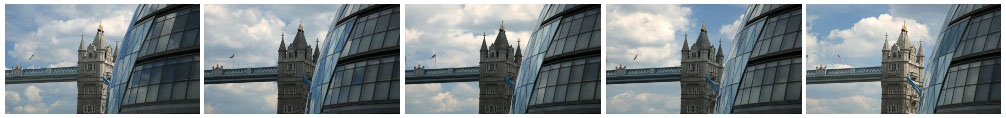 Tower Bridge and City Hall mid shot time lapse track filmstrip