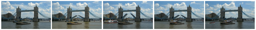 Tower Bridge opening and closing time lapse filmstrip