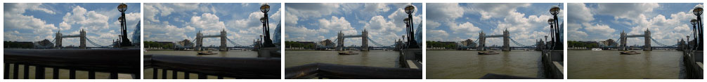 Tower Bridge tracking time lapse filmstrip