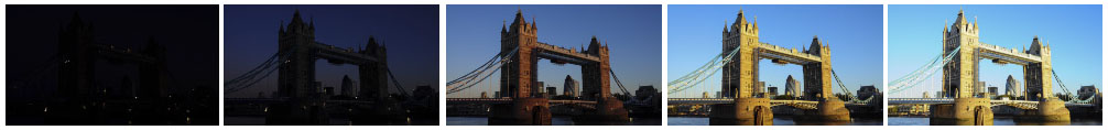 Tower bridge dawn filmstrip