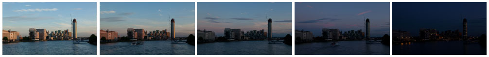 Vauxhall Bridge and The Tower, St Georges wharf filmstrip