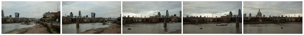 St Paul's Cathedral and Millennium Bridge filmstrip