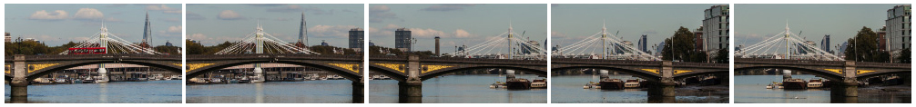 Battersea Bridge time lapse close up pan filmstrip
