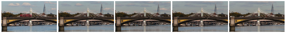 Battersea Bridge time lapse close up static filmstrip