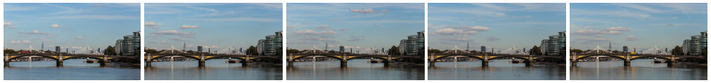 Battersea Bridge static WS filmstrip