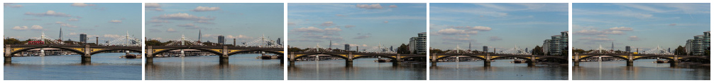 Battersea Bridge zoom out filmstrip