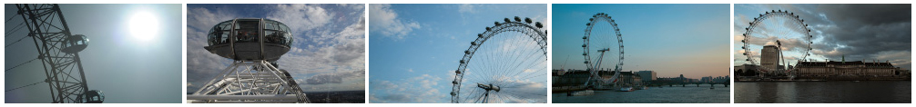 South Bank and London Eye time lapse compilation filmstrip