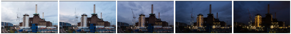 Battersea PS construction site sunset MS