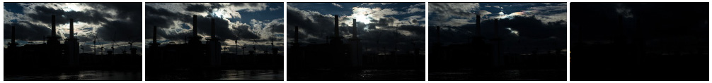 Battersea Power Station silhouetted close up filmstrip