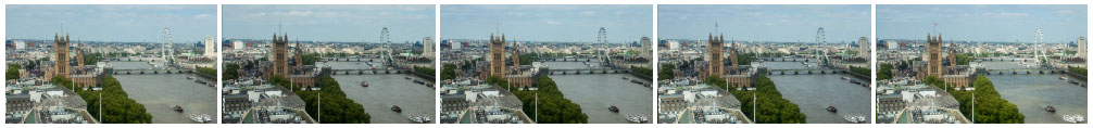 London Skyline from Millbank Tower timelapse
