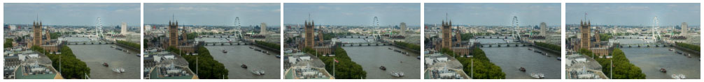London Skyline from Millbank Tower timelapse - tilt-shift version