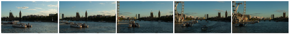 River Thames hyperlapse filmstrip